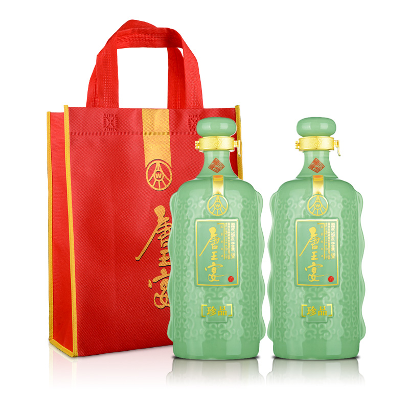 52°利发国际娱乐城(股份)唐王宴珍品750ml(双瓶装)+唐王宴手提袋