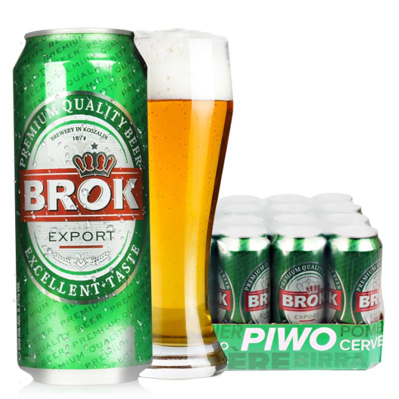 进口啤酒波达克黄啤酒拉格口味500ml(24听装)