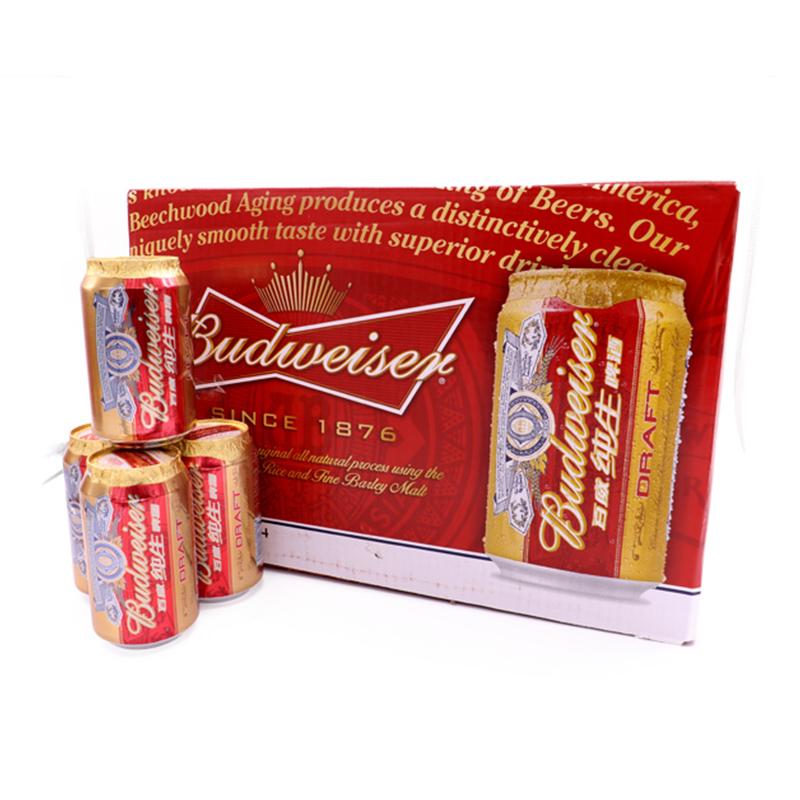 百威啤酒小麦纯生拉罐330ml(24瓶装)