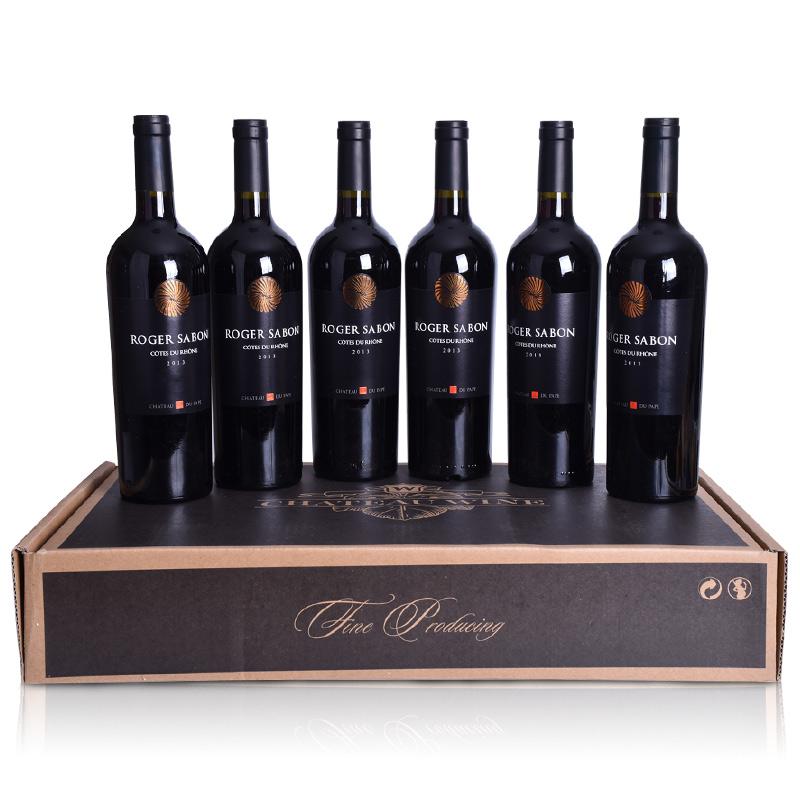 法国罗纳河谷沙邦酒庄AOC级干红葡萄酒(6瓶)