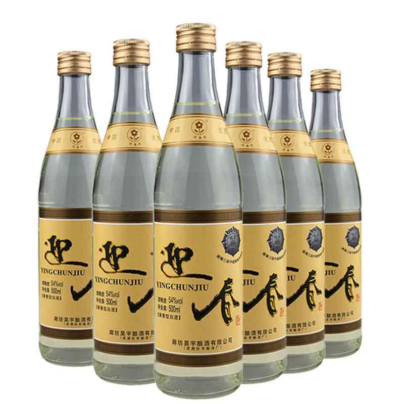【618共享盛典】54°迎春酒陈香馆酱香白酒500ml(6瓶装)
