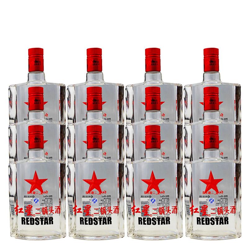 43°红星二锅头苏扁整箱装500ml(12瓶装)