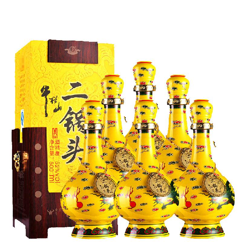 【618共享盛典】52°牛栏山经典二锅头黄龙500ml(6瓶装)