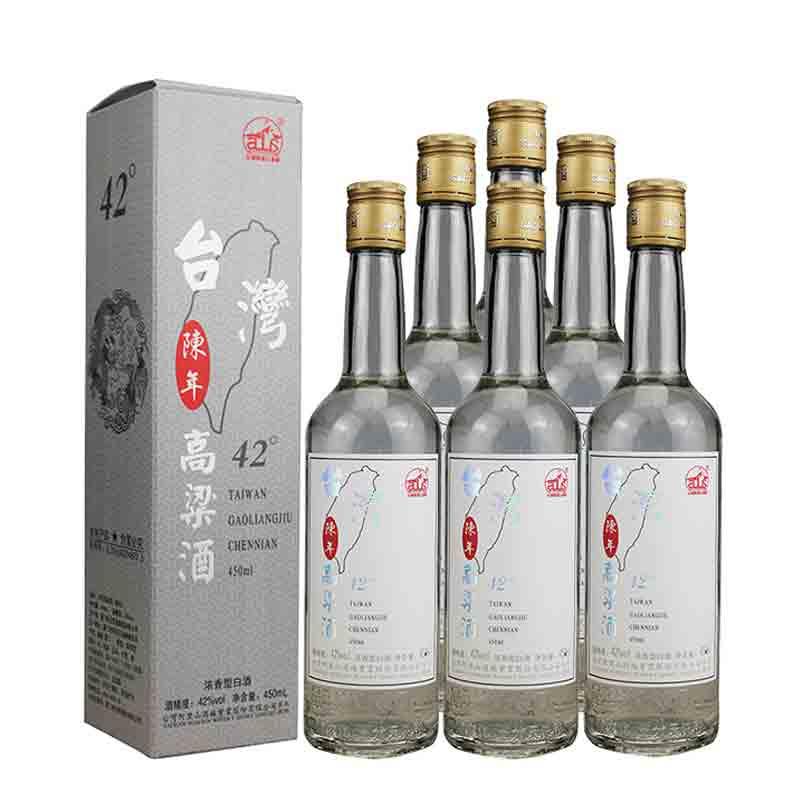 【618共享盛典】42°台湾阿里山高粱酒陈年450ml(6瓶装)