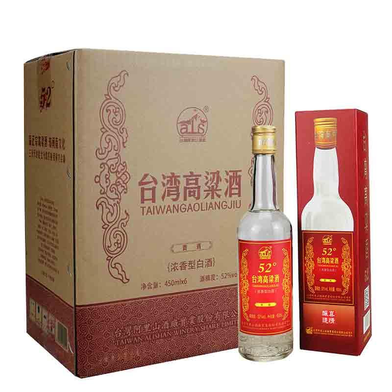 【618共享盛典】52°台湾阿里山高粱酒贵宾600ml(6瓶装)