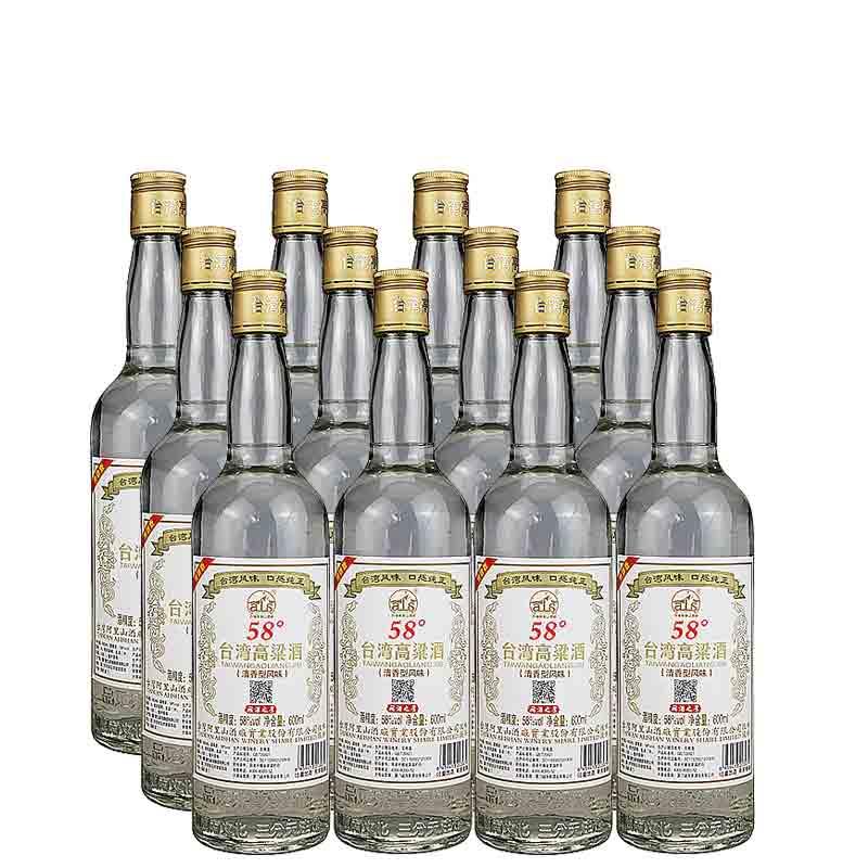 【618共享盛典】58°台湾阿里山高粱酒600ml(12瓶装)