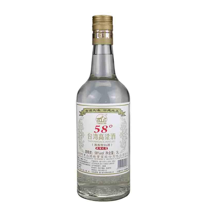 【618共享盛典】58°台湾阿里山高粱酒3L(单瓶价)