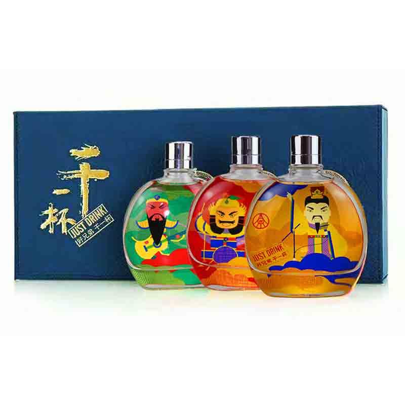 【618共享盛典】52°五粮液干一杯彩瓶小酒礼盒118ml(3瓶装)