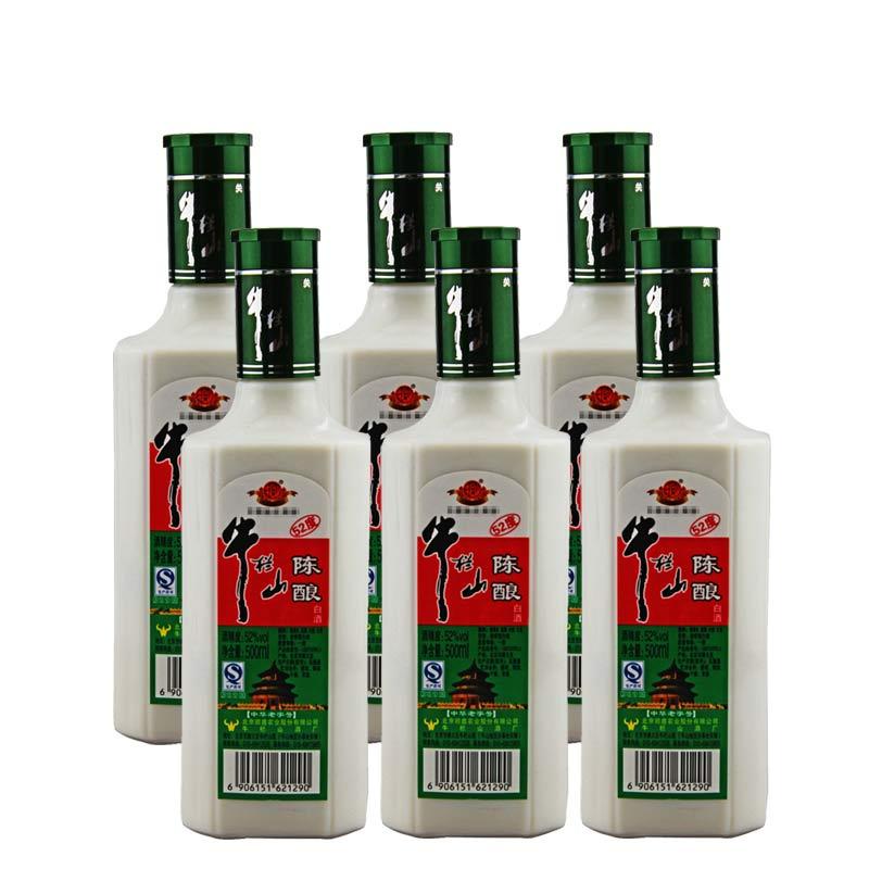 【618共享盛典】52°牛栏山二锅头浓香陈酿500ml(6瓶装)