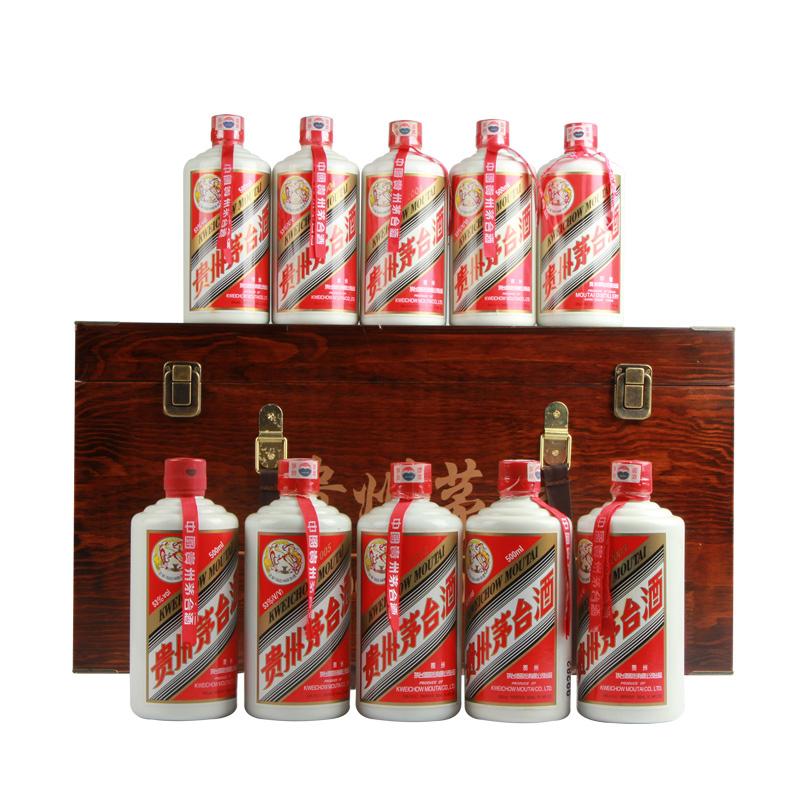 【老酒特卖】53°茅台酒10瓶木质礼盒套装(2000-2009年)
