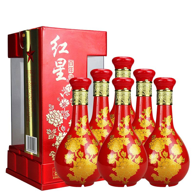 52°红星二锅头百年富贵500ml(6瓶装)