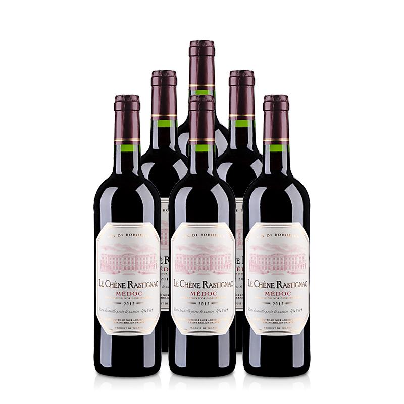法国红酒整箱海蒂克梅多克干红葡萄酒750ml*6