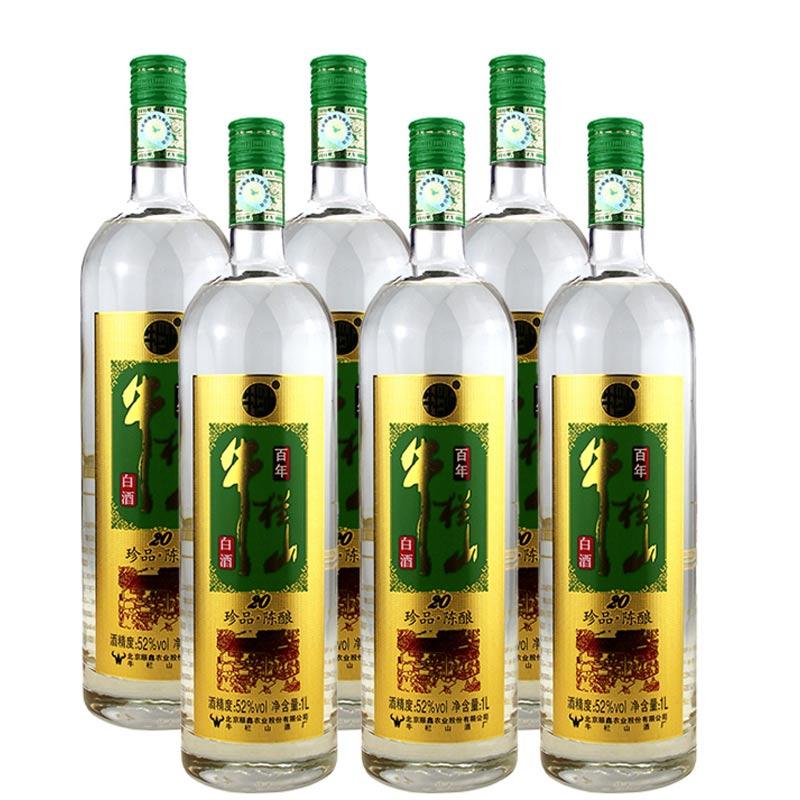 【618共享盛典】52°牛栏山二锅头金标珍品20陈酿1L(6瓶装)