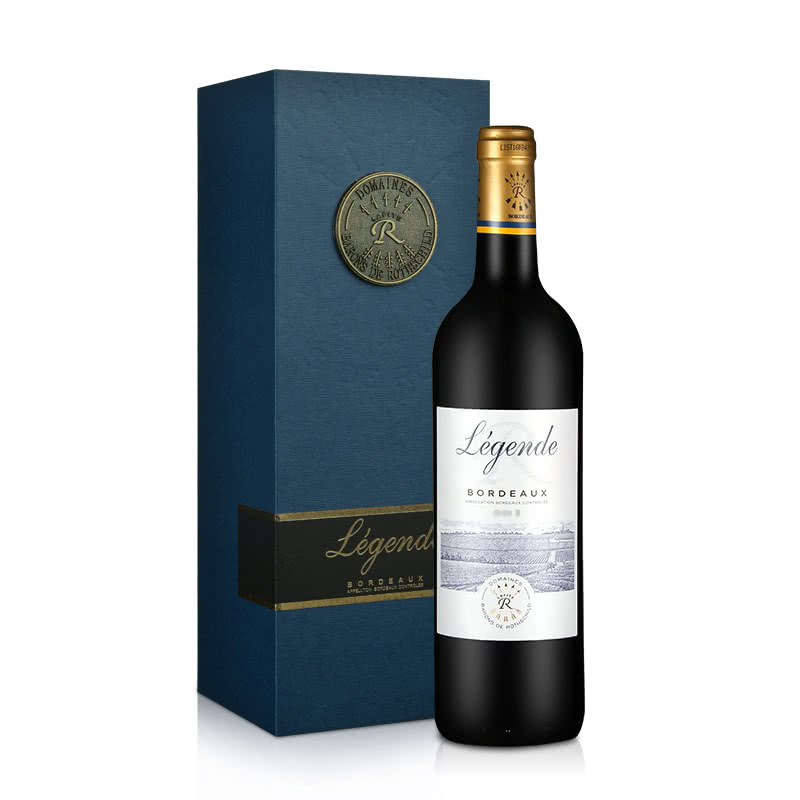 【礼盒】法国拉菲传奇波尔多法定产区红葡萄酒单支礼盒750ml(ASC正品行货)