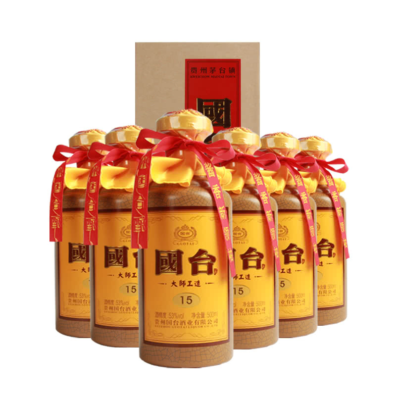 53°国台酒(大师工造15 )500ml(6瓶装)