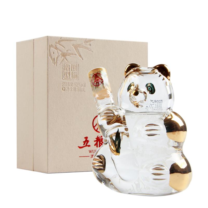 【老酒特卖】52°五粮液熊猫造型50ml(2012年)