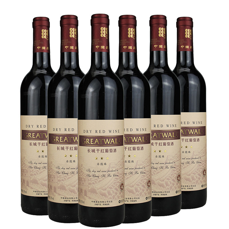 长城三星干红葡萄酒750ml(6瓶装)