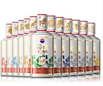 53°贵州茅台酒 国博十二生肖500ml(12瓶装)