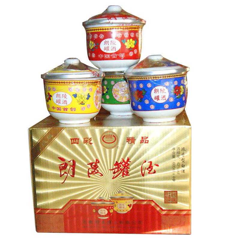四彩精品42º朗陵罐酒600ml(4罐装)