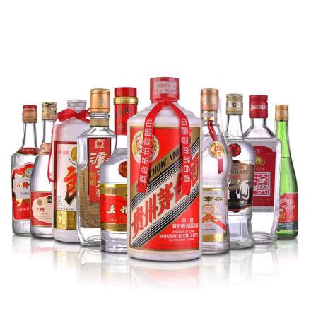 【老酒特卖】中国十大名酒500ml(10瓶装)(90年代后期)