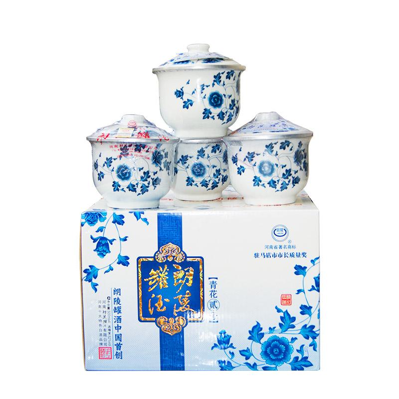 朗陵罐酒青花二号52º500ml(4罐装)
