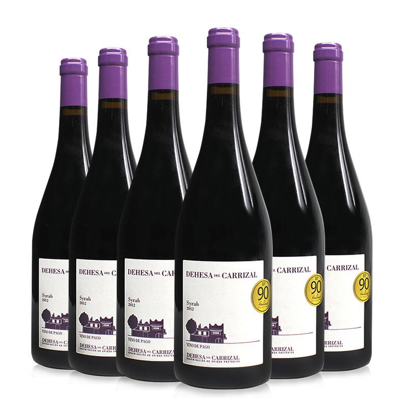 西班牙原瓶进口整箱红酒VP级德莎Syrah2012年西拉红酒陈酿干红整箱750ml*6