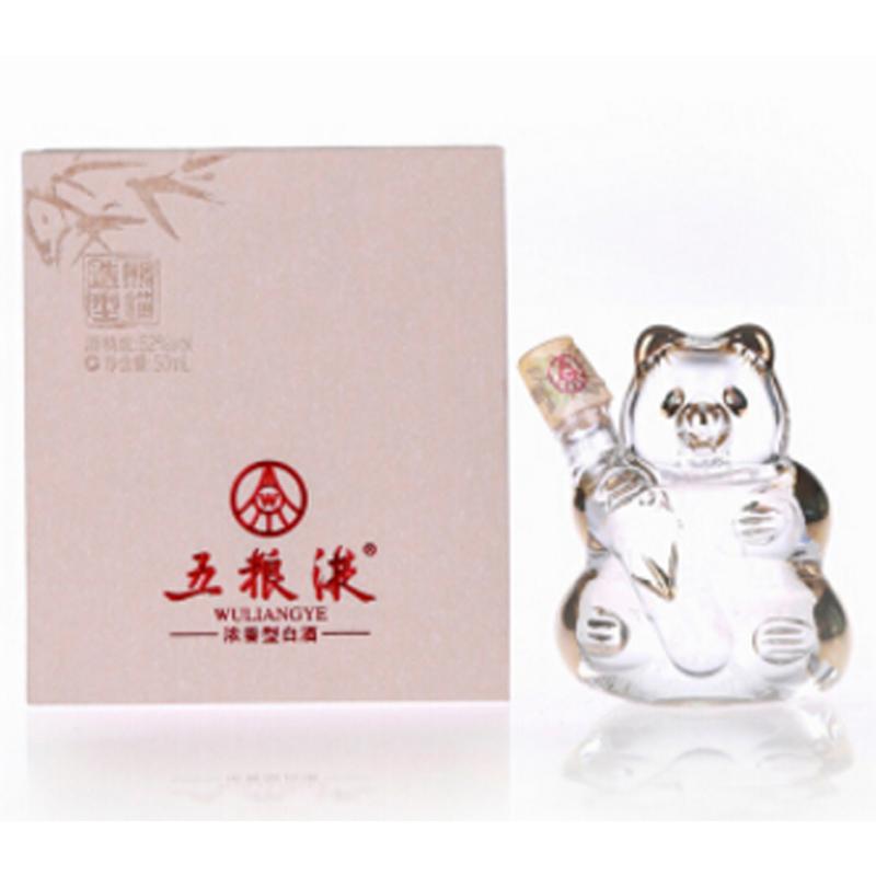 52°利发国际娱乐城熊猫造型小酒版 50ml(2012年)