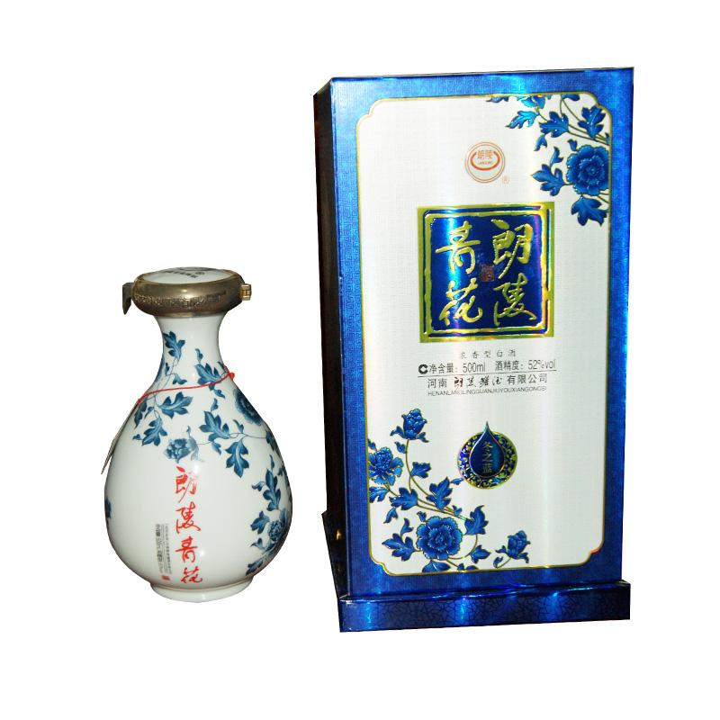 朗陵罐酒 朗陵冬之蓝(冬青花) 纯粮原浆酒 52º500ml(6瓶装)