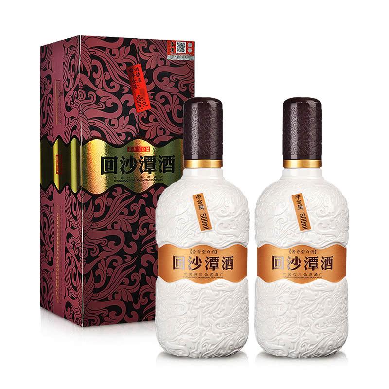【老酒特卖】38°回沙潭酒 酱香型白酒 500ml*2(2014年)